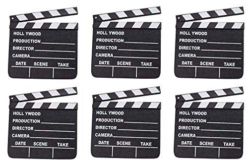 Hollywood Theme Party Decorations (Rhode Island Novelty 7 Inchx 8 Inch Hollywood Movie Clapboards Set of)