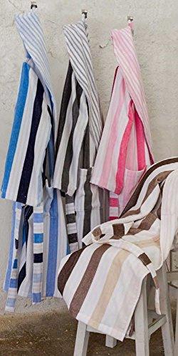 accappatoio L Beige Stripes Smoking Lasa Classic Tipo Grigio E4nqp