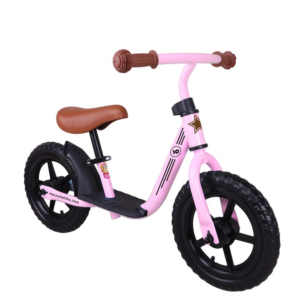 JOYSTAR 10 inch Balance Bike with for Child, Girls Glider/Slider Bike, No Pedal Bicycle for 1 2 3 Years Children, Pedaless Cycle, Pink