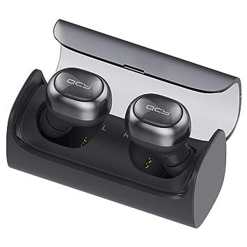 QCY q29 Pro - Auriculares in-Ear de Bluetooth Inalámbricos con ladecase (Power Bank), True Wireless High-End Sound, Gran batería y micrófono (Negro) Negro: ...