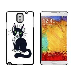 Black White Cat On White Case for Samsung Galaxy Note III 3 iphone case for girlscase for iphone