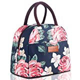 BALORAY Lunch Bag for Women Stylish Lunch Tote Bag Insulated Lunch Bag Lunch Box Insulated Lunch Container (G-197S Flower)