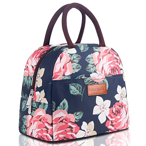 BALORAY Lunch Bag for Women Stylish Lunch Tote Bag Insulated Lunch Bag Lunch Box Insulated Lunch Container (G-197S Flower) (Best Insulated Lunch Bag)