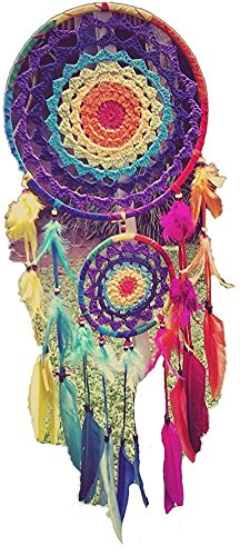 KARMABCN N49- Rainbow Crochet Dream Catcher