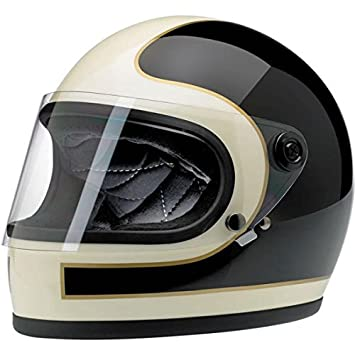 Casco integral Gringo S Helmet Tracker Vintage, blanco y negro, brillante 2XL blanco /