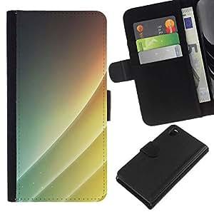 NEECELL GIFT forCITY // Billetera de cuero Caso Cubierta de protección Carcasa / Leather Wallet Case for Sony Xperia Z3 D6603 // Simple patrón