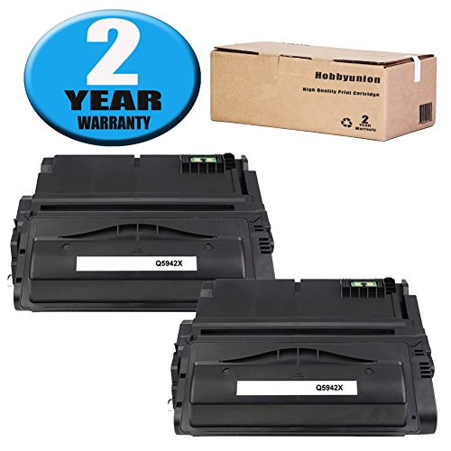 Compatible Q5942X Toner Cartridge Black by Hobbyunion for 42X Q5942X Toner , use LaserJet 4200 4240 4250 4250N 4250TN 4250DTN 4300 4345MFP 4350 4350N 4350TN 4350DTN, 2 Pack