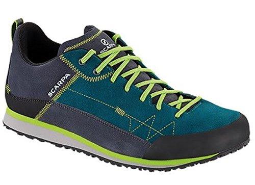 Scarpa Mens Cosmo Schoenen & E-tip Handschoenbundel Meerblauw / Groene Gloed