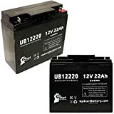 2x Pack - Merits Merits P320 Battery - Replacement UB12220 Universal Sealed Lead Acid Battery (12V, 22Ah, 22000mAh, T4 Terminal, AGM, SLA)
