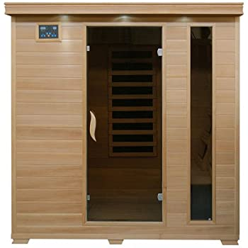 Harvil Tranquility 4-Person Hemlock Sauna with Carbon Infrared Heaters