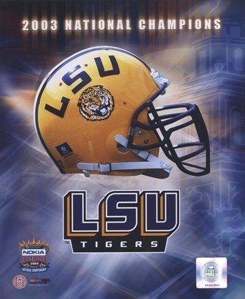 (Lsu Logo Helmet 2003 National Champions Football Photo Print (8 x 10))