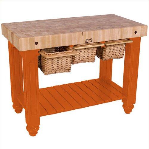 John Boos Gathering Block Iii Work Table Tangerine 24
