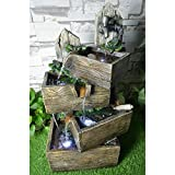 Hi-Line Gift Ltd. Multilevel Pouring Crates with LED Fountain