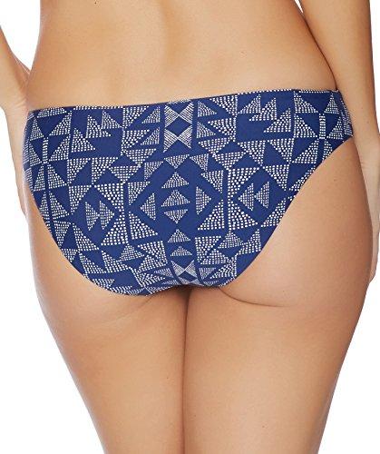 Splendid Women's Deckhouse Geo Reversible Retro Bikini Bottom, Indigo, M
