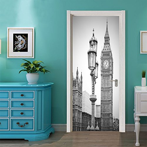 LWCX London Clock Creative Door Sticker To Bedroom Sticker Sticker by LWCX
