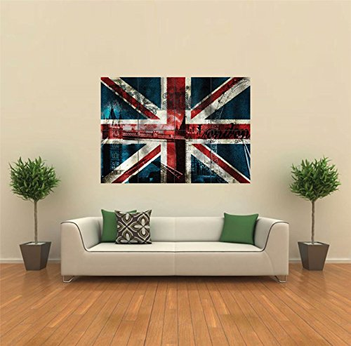 Union Jack Flag British New Giant Poster Wall Art Unique Print Picture