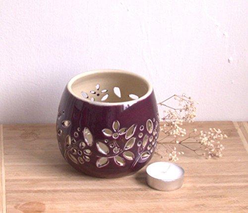 handmade-pottery-tea-light-ceramic-votive-candle-holder-deep-plum-lead-free-glaze-on-outside-and-gol