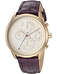 Women's 'Slater' Quartz Stainless Steel and Leather Casual Watch, Color:Purple (Model: MK2687)