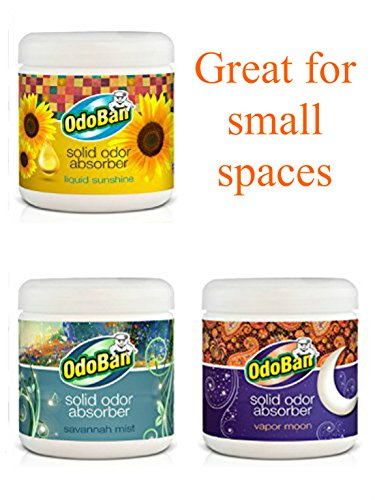 OdoBan Solid Odor Absorbers for Home and Small Spaces by OdoBan
