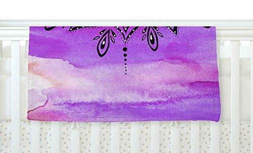 KESS InHouse Li Zamperini Lilac Mandala Lavender Purple Fleece Baby Blanket 40 x 30 [並行輸入品]   B077Z37PQV