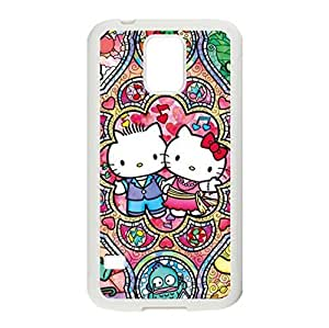 Sainted Glass of Art Designed Hello Kitty Image for Samsung Galaxy S5 Protective Case Cover Shells Plastic and TPU