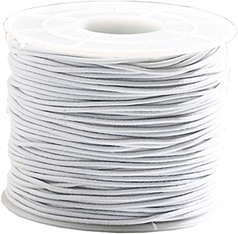 0.8mm White Elastic Thread 10 Meters