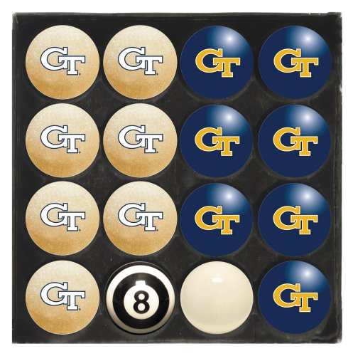 Imperial Officially Licensed NCAA Merchandise: Home vs. Away Billiard/Pool Balls, Complete 16 Ball Set, Georgia Tech Yellow Jackets - Tech Billiard Ball Set