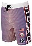 """Hurley Phantom Fastlane USA 18"""" Boardshorts - White"""