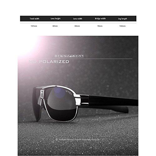 Sol Gafas Gafas La Black De Sapo De Película Brillantes Gafas Ultravioleta Hombres Los De De Sol Gold del Polarizantes De Anti Sol TwTdrX1vq