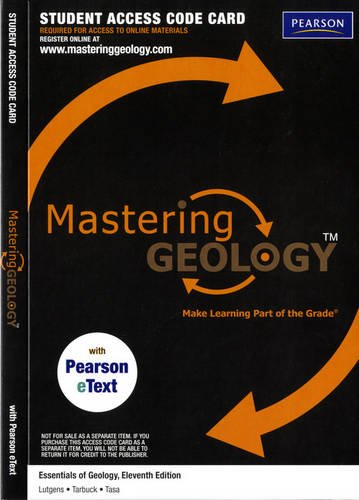 MasteringGeology with Pearson eText -- ValuePack Access Card -- for Essentials of Geology (ME component)