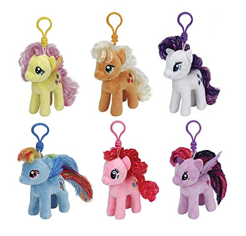 Ty My Little Pony Plush Beanie Babies Set -- Collection of 6 My Little Pony 4 Inch Plush Toys with -