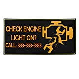 Check Engine Light On #4 Outdoor Fence Sign Vinyl Windproof Mesh Banner With Grommets - 3ftx6ft, 6 Grommets