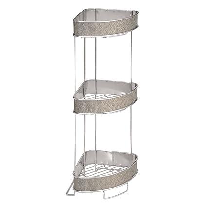 InterDesign Twillo Estantes esquineros independienes de baño  para toallas 3834f200719c