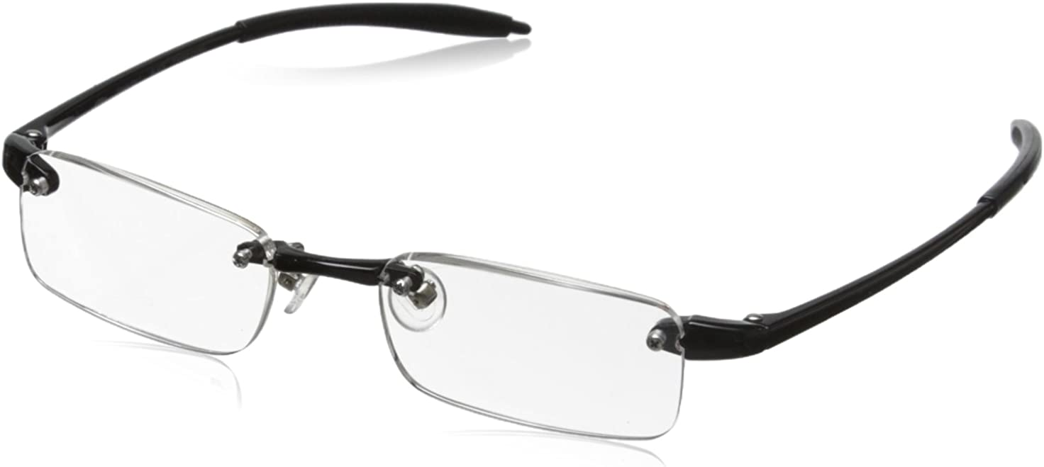 Visualites 1 Black 1.25 Rectangle Reading Glasses