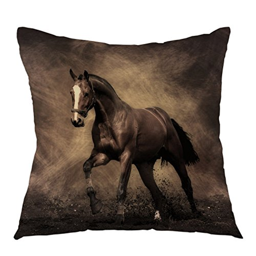 oFloral Decorative Horse Throw Pillow Cover Running in Night Sky Pillow Case Square Cushion Cover for Sofa Couch Home Car Bedroom Living Room 18