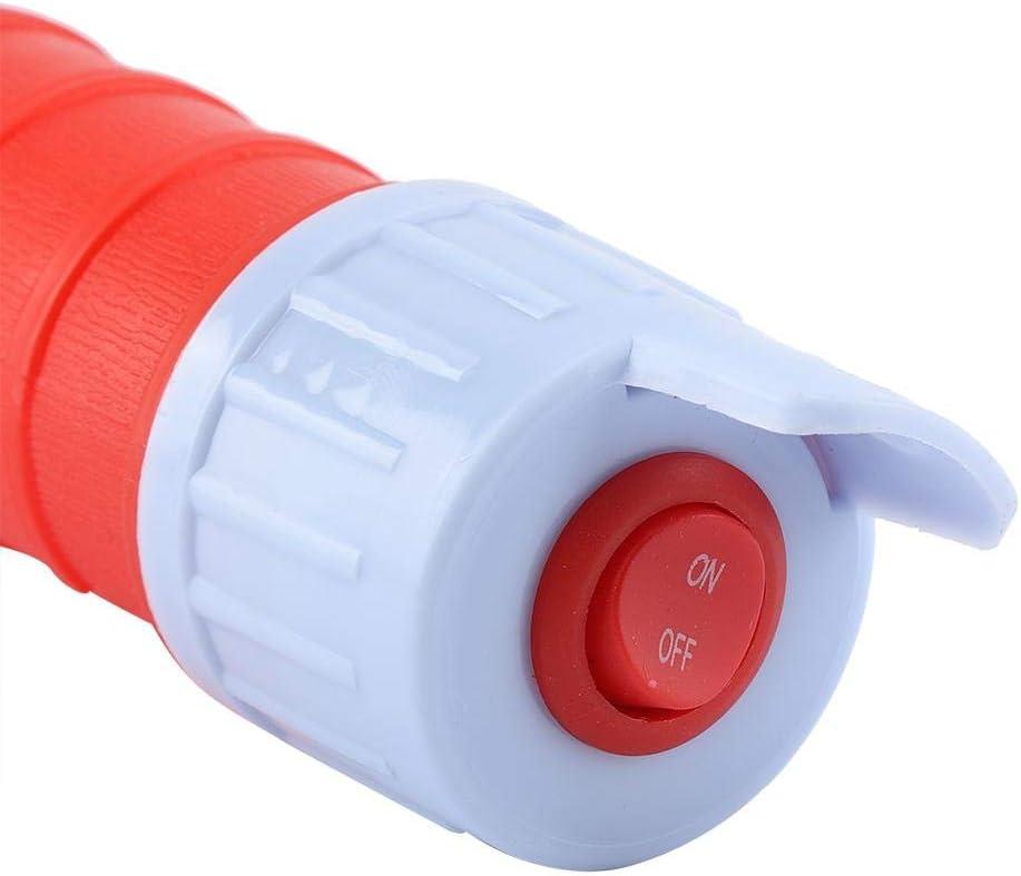 Bomba de transferencia de l/íquido a pilas con tubo de succi/ón flexible para gasolina y di/ésel rosso