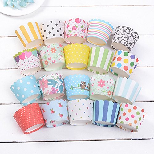 High Quality 50pcs/lot Colorful Design Pure Color Mini Muffin Paper Cake Baking Cup