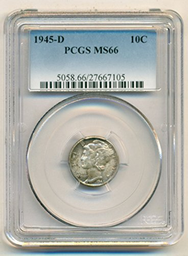 1945 D Mercury Dime MS66 PCGS
