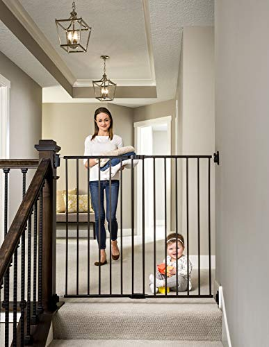 Regalo 2-in-1 Extra Tall Easy Swing Stairway and Hallway Walk