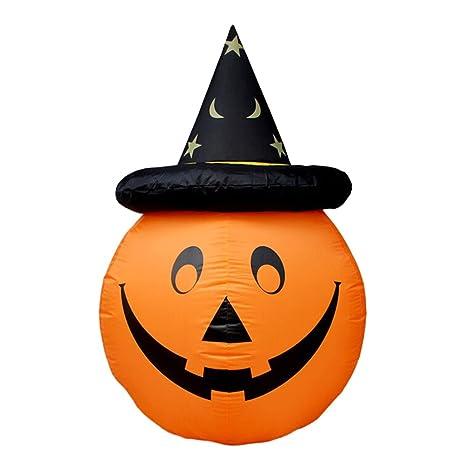 BESTOYARD Zucca gonfiabile di Halloween saltare in aria la decorazione  della zucca del puntello con il af52799b1942