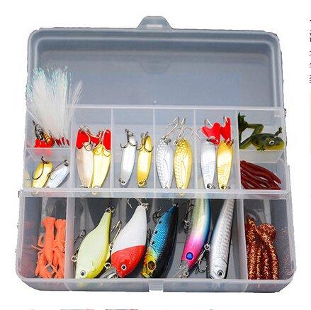 (Eco-me 41Pcs/Set Fishing Lure Kit, Soft Bait and Hard Bait Bionic Fishing Bait for Fishing Lovers)