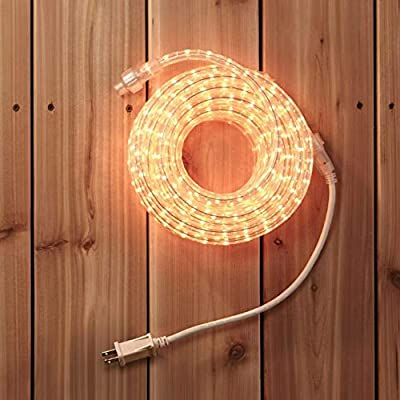 NOMA Rope Lights   30 Ft Plug-in, Connectable, Indoor/Outdoor, Waterproof   Ideal for Deck, Patio, and Backyards   UL Certified, Warm White