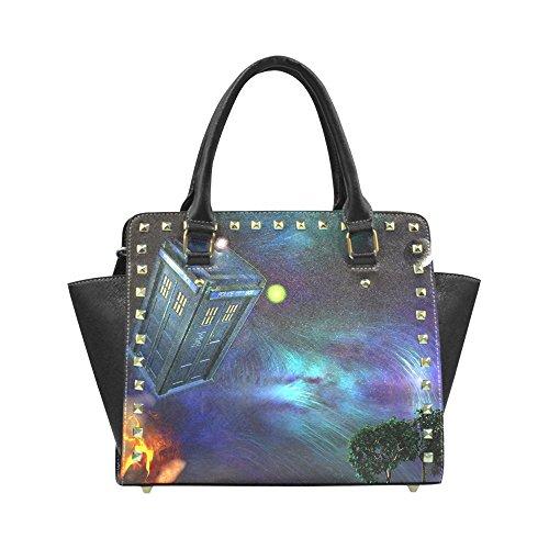 Chuangdian Police Box Custom Rivet Shoulder Handbag