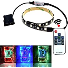 Magnetic LED-Strip Cable RGB for All Gaming Mid Tower Cases,RGB ,With 6 NdFeB magnets,5050 TriBright for nzxt phantom,phanteks evolv,ATX, Corsair PC Cases ,Computer,Desktop with Window