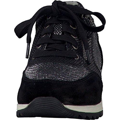 Schwarz À 28 098 23602 Lacets Jana silber Chaussures 8 8 De Ville Pour Femme qwR8871