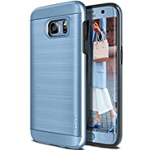 Galaxy S7 Edge Case, OBLIQ [Slim Meta][Blue Coral] Slim Fit Premium Dual Layer Protection Case with Metallic Brush Finish Back with Shock Absorbing TPU Inner Layer for Samsung Galaxy S7 Edge