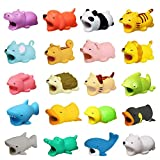 Diruite 20-Pack for Cable Bite, Cute Animal Cable Protector for iPhone Cord Cable Bite Data Line Cell Phone Accessories