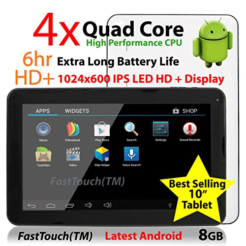 10 Google Android Tablet PC 8GB / Android 4.2 / 1GB DDR3 Ram / 10-Point Capacitive Touch Screen / Cortex A9 Processor / Dual Camera / FastTouch(TM)