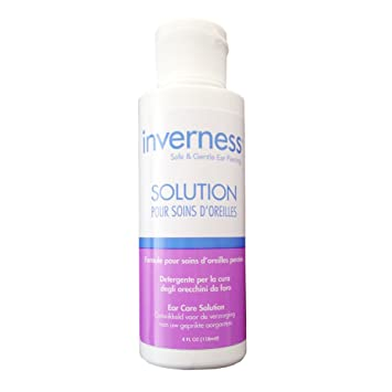 Amazon.com : INVERNESS After Piercing Ear Care Solution 4 oz : Beauty