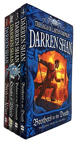 Darren Shan The Saga of Larten Crepsley Series 4 Books Collection Set (Birth of a Killer, Ocean of Blood, Palace of the Damned, Brothers to the Death) (Larten Crepsley Saga Brothers To The Death)
